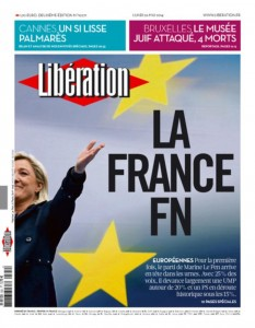 liberation une la france fn lepenisme mediatique