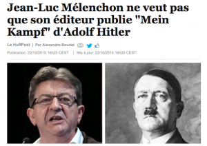 melenchon hitler huffington post