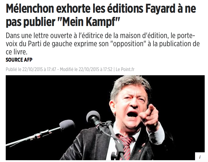 melenchon hitler le point