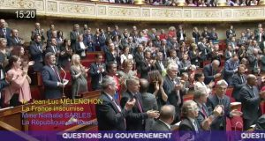 melenchon ovation assemblee nationale